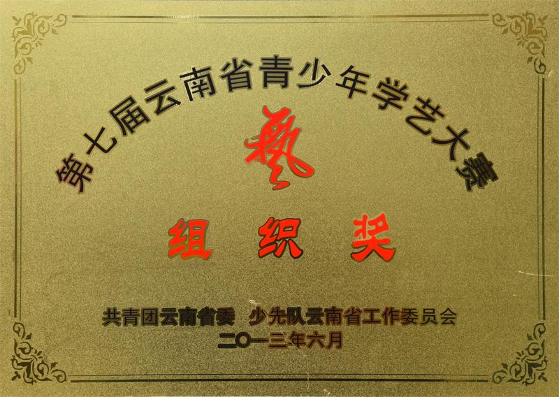 昆明市盘龙区汇承中学荣获第七届云南省青少年学艺大赛组织奖